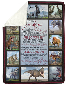 To My Grandson You Will Always Be My Baby Boy Gifts From Grandma Sherpa Blanket