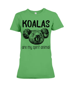 Koalas Are My Spirit Animal Gifts For Koala Lovers Ladies Tee