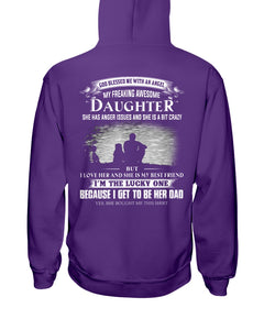 I Love My Freaking Awesome Daughter Hoodie