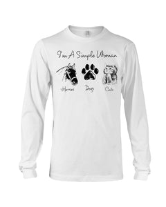 Unique I Am A Simple Woman  Gift For Cat Lovers Unisex Long Sleeve
