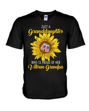 Load image into Gallery viewer, Just A Granddaughter Who Is Proud Of Her Vietnam Grandpa Gifts Guys V-Neck