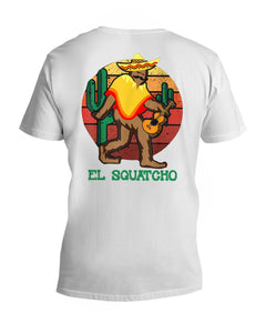 Bigfoot El Squatcho Unique Custom Design Meaningful Gifts For Bigfoot Lovers Guys V-Neck