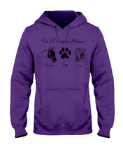 Load image into Gallery viewer, Unique I Am A Simple Woman  Gift For Cat Lovers Hoodie