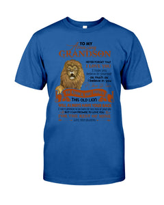 This Old Lion Will Always Have Your Back Lovely Message Gifts For Grandson Guys Tee