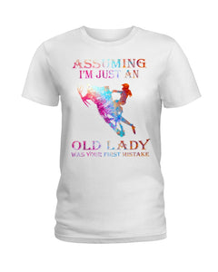Assuming I'm Just An Old Lady Gift For Snowmobile Lovers Ladies Tee
