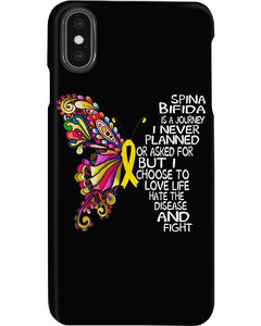 Spina Bifida Is A Journey I Never Planned Or Asked For But I Choose To Love Life Phone case