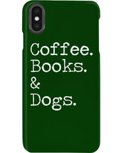 Load image into Gallery viewer, Coffee Books And Dogs Special Custom Design Phone case