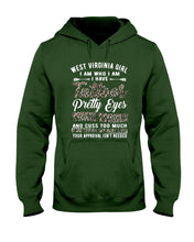 Load image into Gallery viewer, West Virginia Girl I Am Who I Am - I Have Tattoos Pretty Eyes Custom Design Hoodie