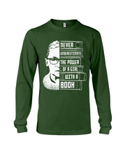 Load image into Gallery viewer, Never Underestimate A Power Girl With A Book Custom Design Unisex Long Sleeve