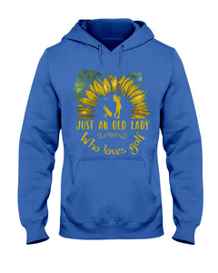 Sunflower Just An Old Lady Who Loves Golf Custom Design For Sport Lovers Hoodie