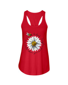 Be Kind Dragonfly Daisy Funny Dessign Gift For Mother Day Ladies Flowy Tank