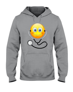 Cute Smiling Nurse Emoji Face Wearing Stethoscope Great Gift For Doctor's Day Hoodie