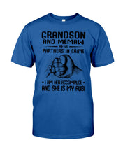 Load image into Gallery viewer, Grandson And Memaw Best Partners In Crime Gifts Guys Tee