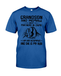 Grandson And Memaw Best Partners In Crime Gifts Guys Tee
