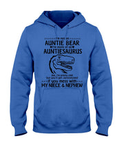 Load image into Gallery viewer, I'm Not An Auntie Bear I'm More Of A Auntiesaurus Gifts For Aunt Hoodie