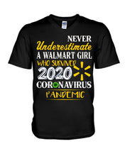 Load image into Gallery viewer, Never Underestimate A Walmart Girl Who Survive 2020 Pandemic Guys V-Neck