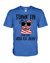 Load image into Gallery viewer, Staying Fly For The 4Th Of July Custom Design Guys V-Neck