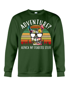 Adventure Alpaca My Diabetes Stuff Colorful Gift For Family Sweatshirt