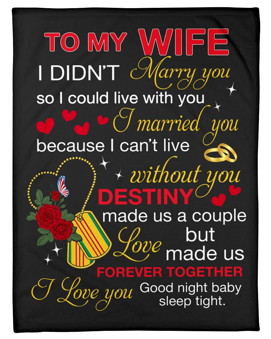 I Can't Live Without You Great Words From Husband To Wife Fleece Blanket