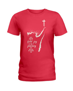 Cat I Will Choose To Find Joy In The Journey Custom Design For Cat Lovers Ladies Tee