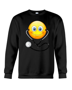Cute Smiling Nurse Emoji Face Wearing Stethoscope Great Gift For Doctor's Day Sweatshirt
