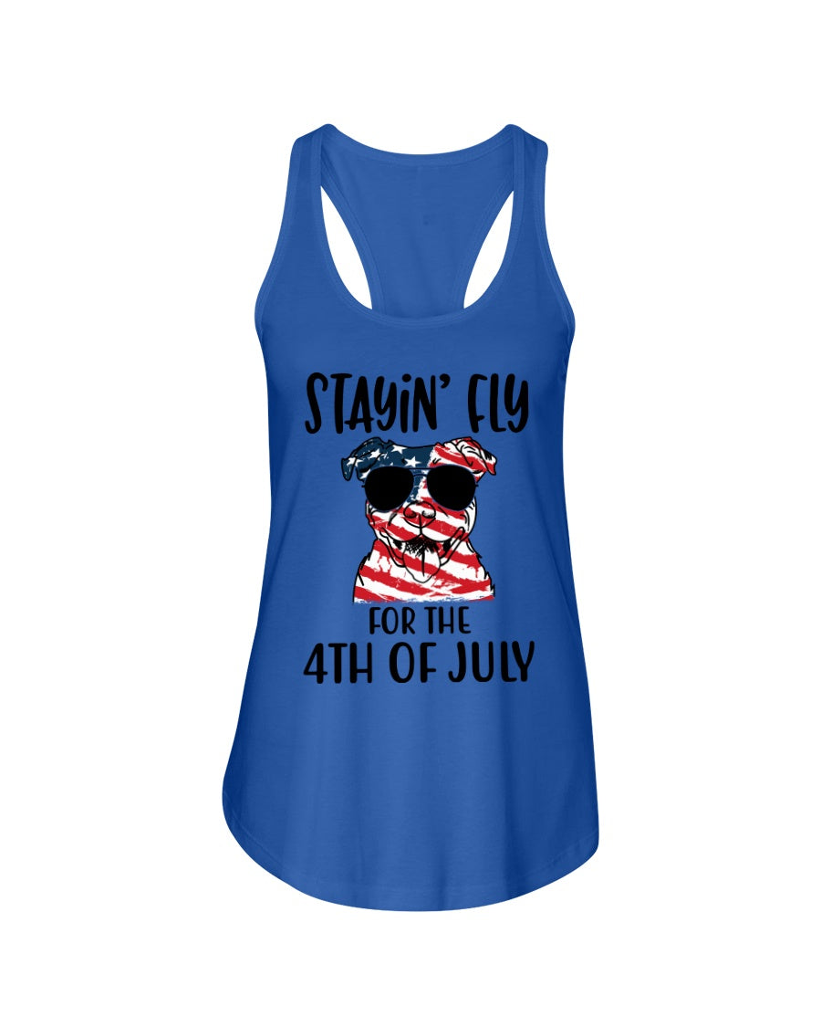 Staying Fly For The 4Th Of July Custom Design Ladies Flowy Tank
