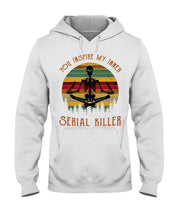 Load image into Gallery viewer, You Inspire My Inner Serial Killer- Yoga Skeleton Hoodie