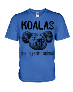 Koalas Are My Spirit Animal Gifts For Koala Lovers Guys V-Neck