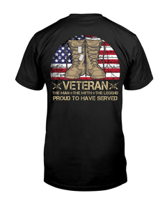 Veteran Proud To Have Served Gift For Veterans Guys Tee
