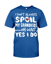 Load image into Gallery viewer, I Don't Always Spoil My Grandkids Custom Design Guys Tee