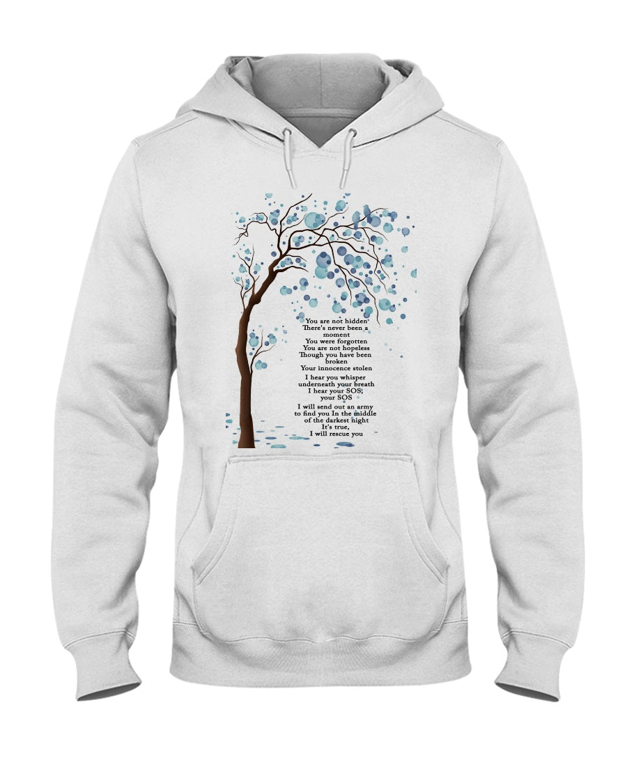 You're Not Hidden There's Never Been A Moment You Were Forgotten Hoodie