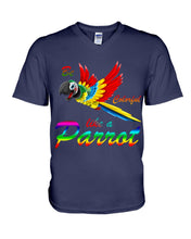 Load image into Gallery viewer, Lovely Tote Bag Be Colorful Like A Parrot Birthday Gift For Parrot Lovers Guys V-Neck