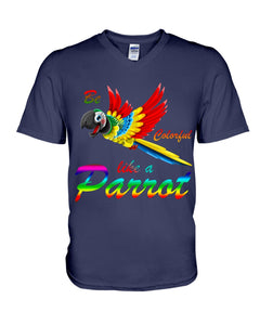 Lovely Tote Bag Be Colorful Like A Parrot Birthday Gift For Parrot Lovers Guys V-Neck