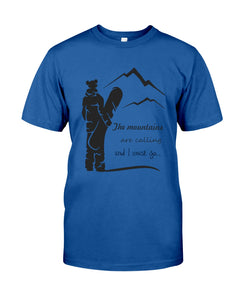 The Mountains Are Calling And I Must Go Custom Design Guys Tee