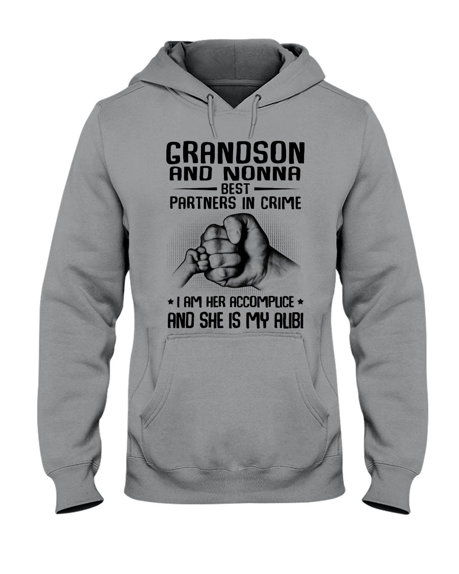 Grandson And Nonna Best Partners In Crime Custom Design Hoodie