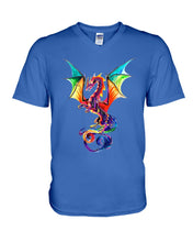 Load image into Gallery viewer, Lovely Tote Bag Colorful Dragon Birthday Gift Guys V-Neck