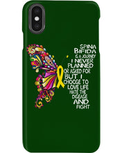 Load image into Gallery viewer, Spina Bifida Is A Journey I Never Planned Or Asked For But I Choose To Love Life Phone case