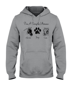 Unique I Am A Simple Woman  Gift For Cat Lovers Hoodie
