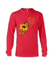 Load image into Gallery viewer, Butterfly Sunflower Nurse Custom Gift For Friends Unisex Long Sleeve
