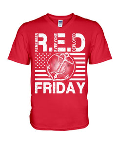 Remember Everyone Deploved Red Friday Gifts Guys V-Neck