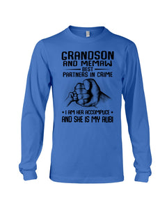 Grandson And Memaw Best Partners In Crime Gifts Unisex Long Sleeve