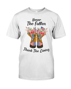 Honor The Fallen Thank The Living Gifts Guys Tee