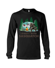Load image into Gallery viewer, I Party Sasquatch Great Gift For Birthday Unisex Long Sleeve