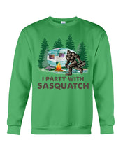 Load image into Gallery viewer, I Party Sasquatch Great Gift For Birthday Sweatshirt