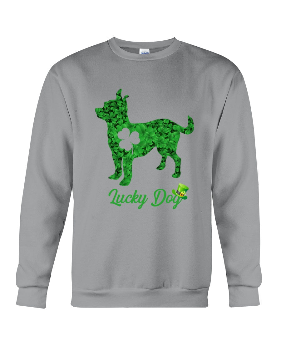 Chihuahua Lucky Day Clover Happy St Patrick's Day Trending Sweatshirt