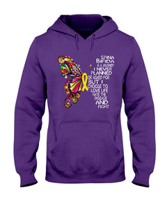Spina Bifida Is A Journey I Never Planned Or Asked For But I Choose To Love Life Hoodie