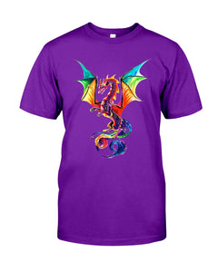 Lovely Tote Bag Colorful Dragon Birthday Gift Guys Tee