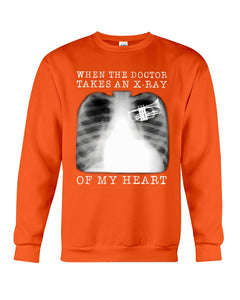 When The Doctor Takes An X-Ray Of My Heart For Trumpet Lovers Sweatshirt