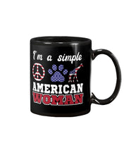 Load image into Gallery viewer, I Am A Simple American Woman Who Loves Dogs And Giraffe Custom Design Mug