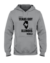 Load image into Gallery viewer, Just A Texas Guy In An Illinois  World Personalized Nation Gifts Hoodie